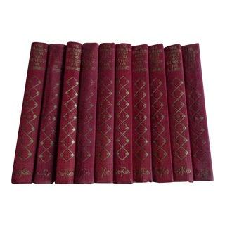Vintage 1920s Complete Set of World's Best 100 Detective Stories - 10 Volumes