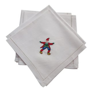 Holiday Linen Napkins - Set of 4