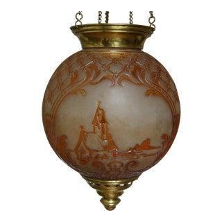 "19th C. Cristalleries De Baccarat Mma Documented ""Baccarat Paris"" Electrified Oil Lantern"