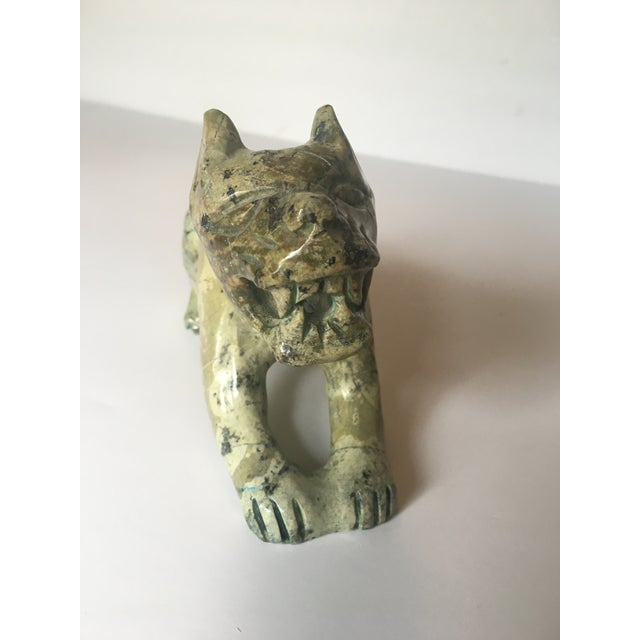 Carved Stone Guardian Lion - Image 8 of 9