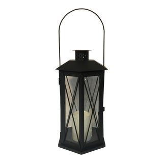 Black Metal Electric Candle Lantern