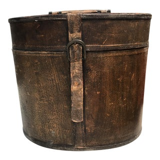 Leather Storage Box With Handle