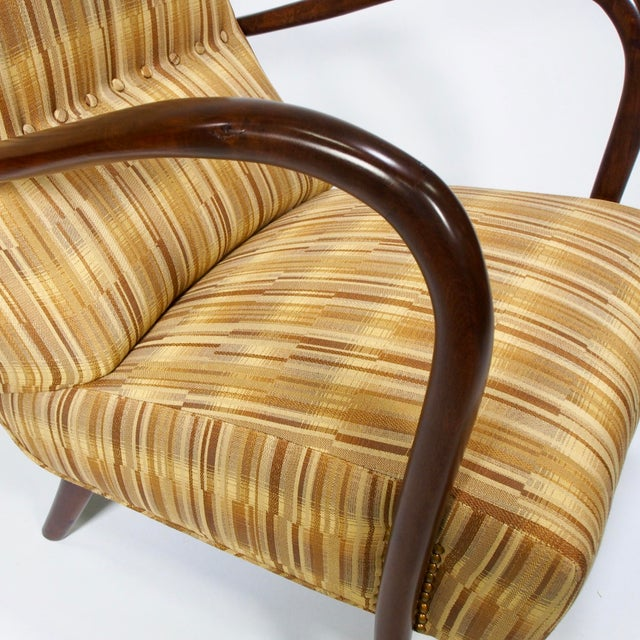 Italian Mid-Century High Back Chairs - A Pair - Image 5 of 10