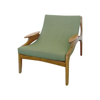 Italian Wood Sling Lounger