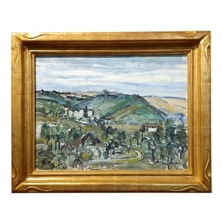 View of the Hollywood Hills Oil Painting