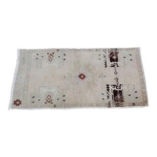 Vintage Turkish Muted Colour Carpet - 3' 5'' X 1' 8''