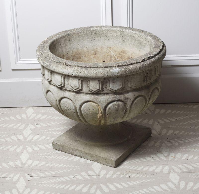 vintage concrete planter image 2 of 4