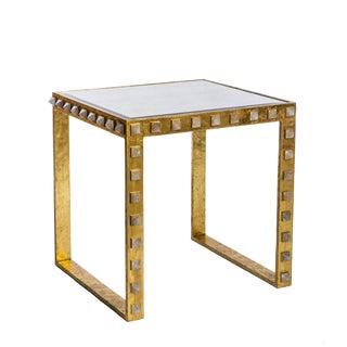 Emporium Home Quartz Stud Gold End Table