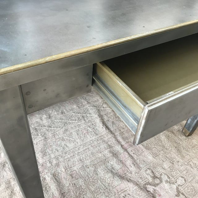 Vintage Industrial Metal Desk - Image 4 of 8