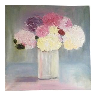 Abstract Hydrangeas Still Life Painting
