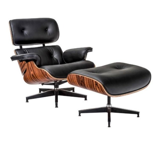 Image of Contemporary Eames Style Lounge Chair & Ottoman