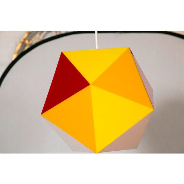 Image of Geodesic Yellow & Orange Acrylic Pendant Light