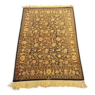 Persian Qum Signed Silk Rug - 3′4″ × 4′9″