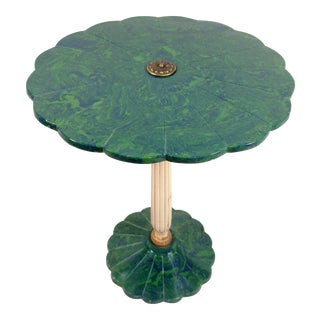 Vintage Blue & Green Accent Table