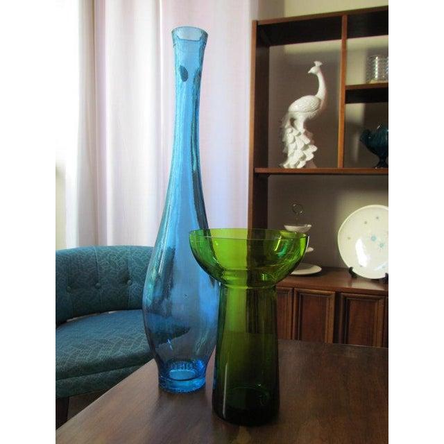 Vintage Scandanavian Green Art Glass Centerpiece - Image 6 of 6