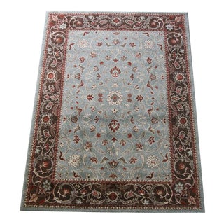 Victorian-Style Floral Rug - 5′ × 8′