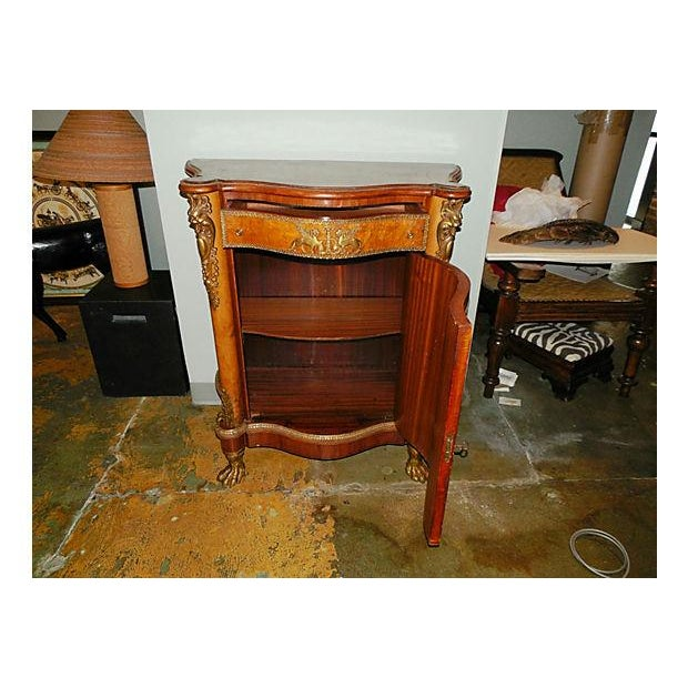 Antique Inlaid French Empire Revival Cabinet - Image 4 of 8