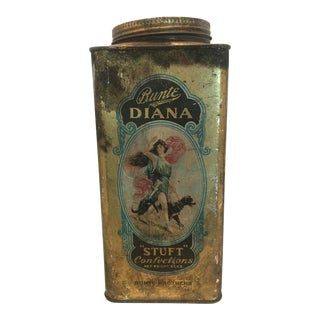 1920's Vintage Bunte Brothers Diana Stuft Confections Tin