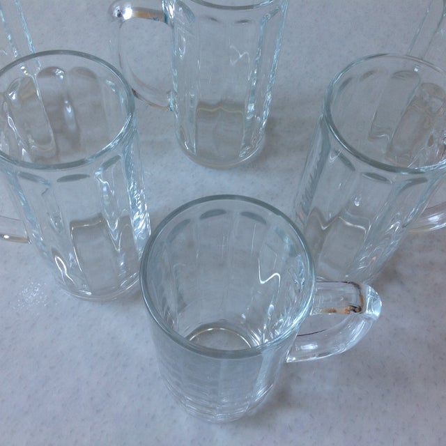 French Pint Beer Mugs - Set of 6 - Image 5 of 6