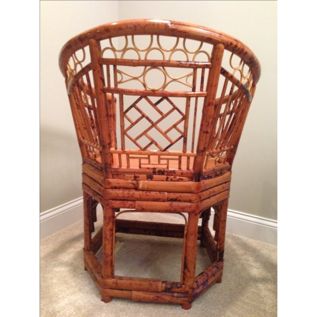 Chinese Chippendale Style Bamboo Chair - Image 5 of 8