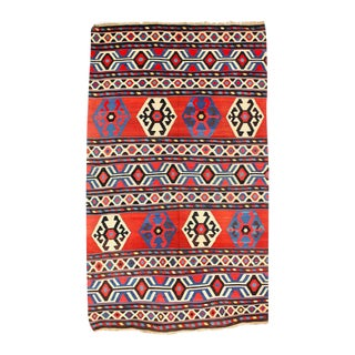 Vintage Caucasian Shirvan Kelim - 5.6'W x 9.9'L