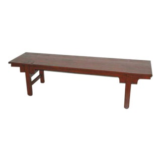 Chinese Antique Red Bench