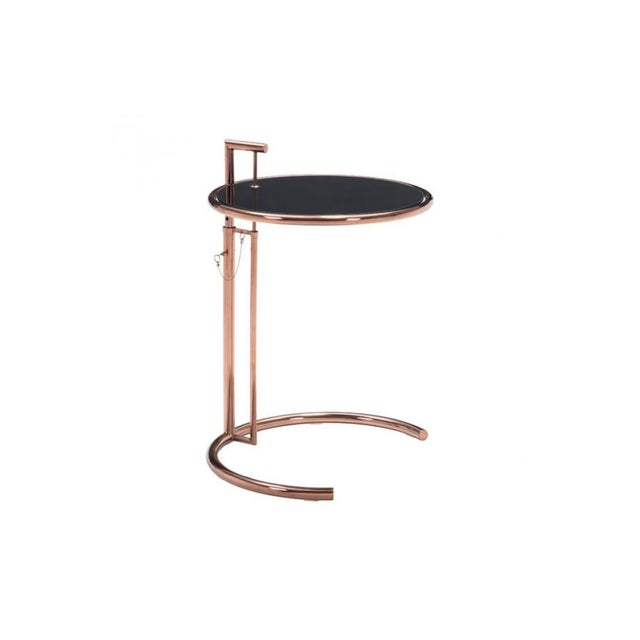 Image of Rose Gold Smoke Glass Side Table