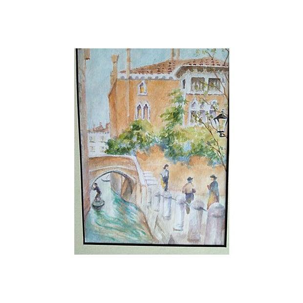 Venice Bridge Watercolor - Image 2 of 2