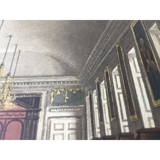 1819 Colored Engravings : English Formal Interiors - a Pair - Image 7 of 11