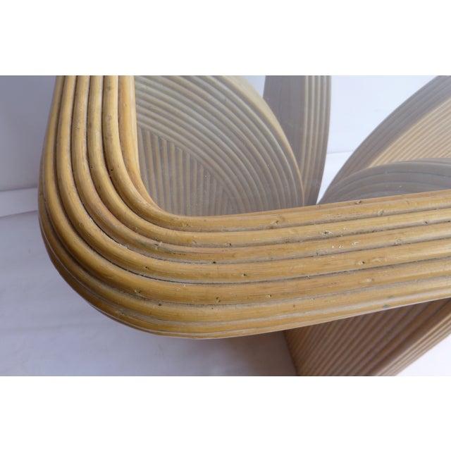 Mid-Century Modern Split Reed Table - Image 7 of 9
