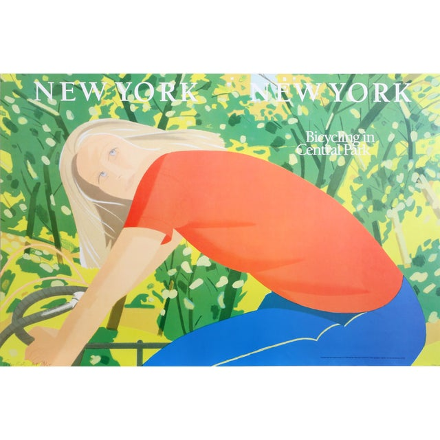 Alex Katz - New York Bicycling in Central Park - Image 1 of 2
