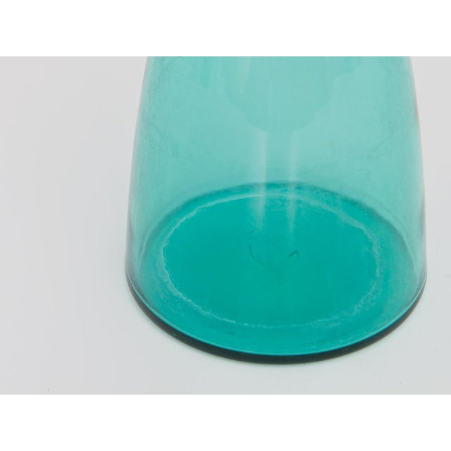Mid-Century Modern Turquoise Decanter - Image 5 of 7