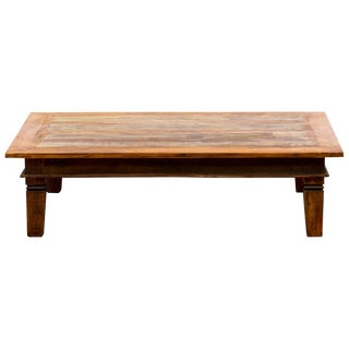 Vintage Handmade Reclaimed Solid Wood Coffee Table