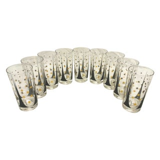 Signed Fred Press Glasses - Set of 9