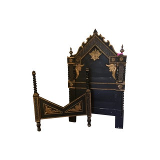 1830 Italian Baroque Headboard and Footboard