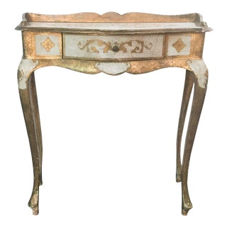 Early Florentine Style Desk, Side Table