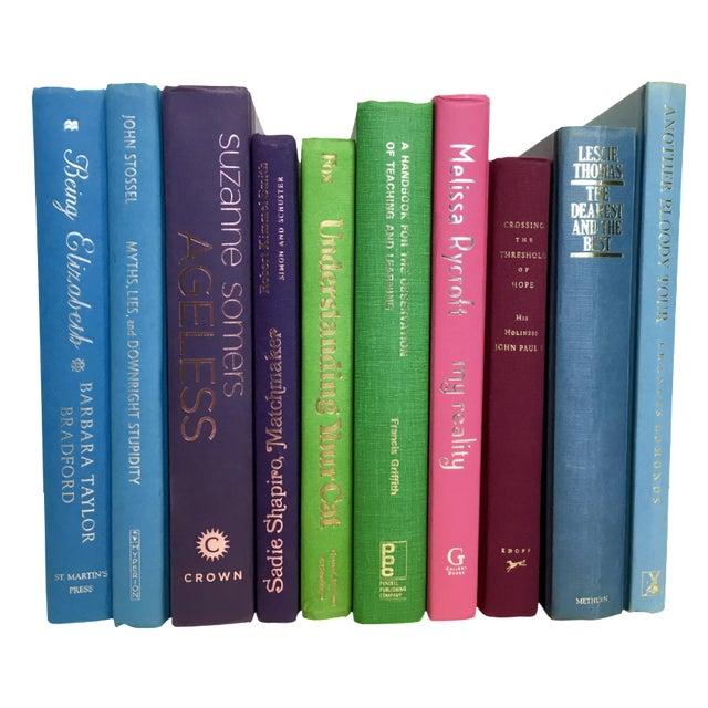 Multicolor Decorative Books - Set of 10 - Image 1 of 3