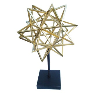 Geometric 3-D Star Sculpture