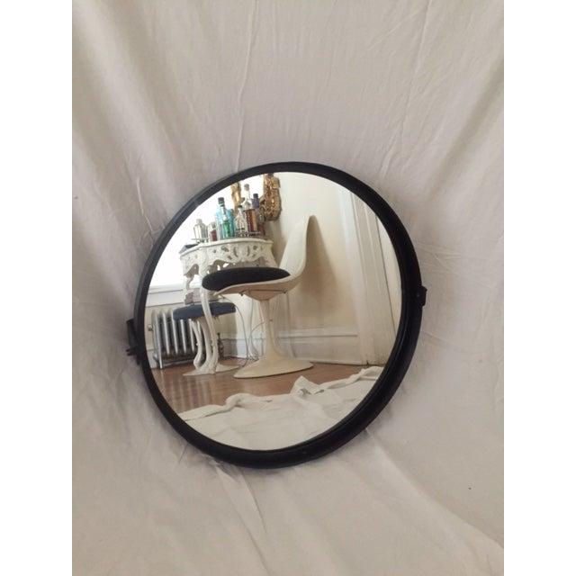 Round Pivot Iron Mirror - Image 3 of 6