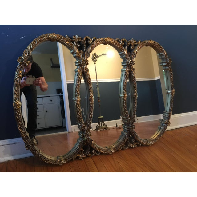 Gold Gilt Triple Mirror - Image 4 of 6