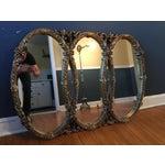 Image of Gold Gilt Triple Mirror