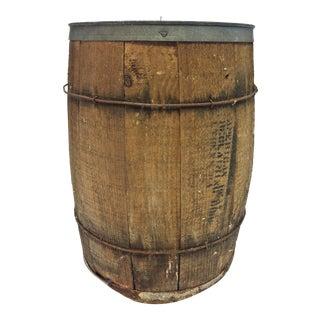 Vintage Rustic Banded Weathered Wood Nail Keg