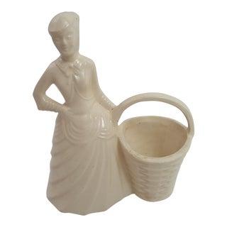 Early Brush Pottery Girl Planter