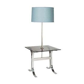 1970's Chrome & Glass Floor Lamp