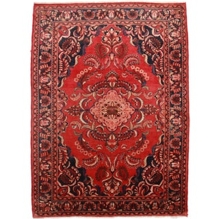 Hand-Knotted Persian Mahal Rug - 7′9″ × 11′2″