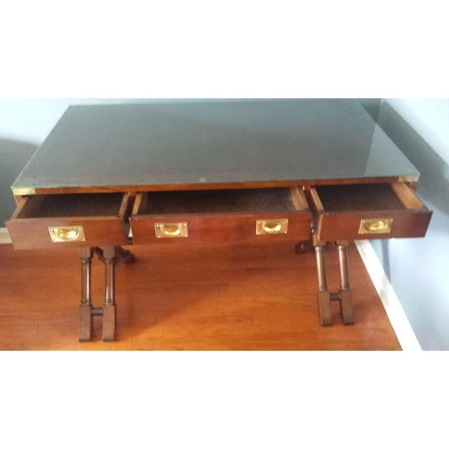 Mid-Century X Base Campaign Desk - Image 3 of 7