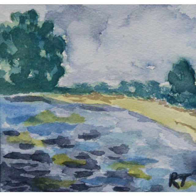 Old Orchard Beach Maine Watercolor - Image 1 of 2