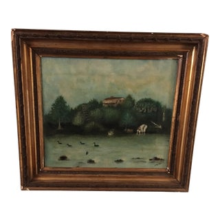18th Century Landscape Oil Painting