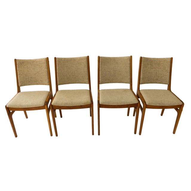 Image of Vintage D-Scan Danish Teak Chairs - Set of 4