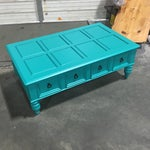Image of Custom Turquoise Cocktail Table by Bassett